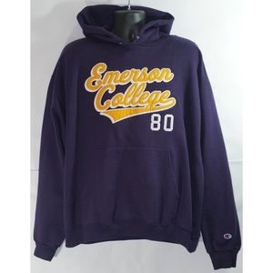 Champion Emerson College Pullover Hoodie Size XL
